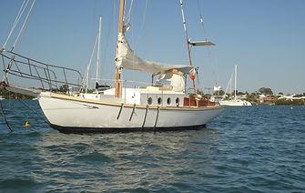 Alan Buchanan wooden sailboat