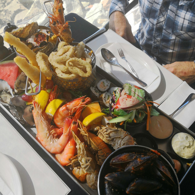 Seafood platter in Scarborough through G