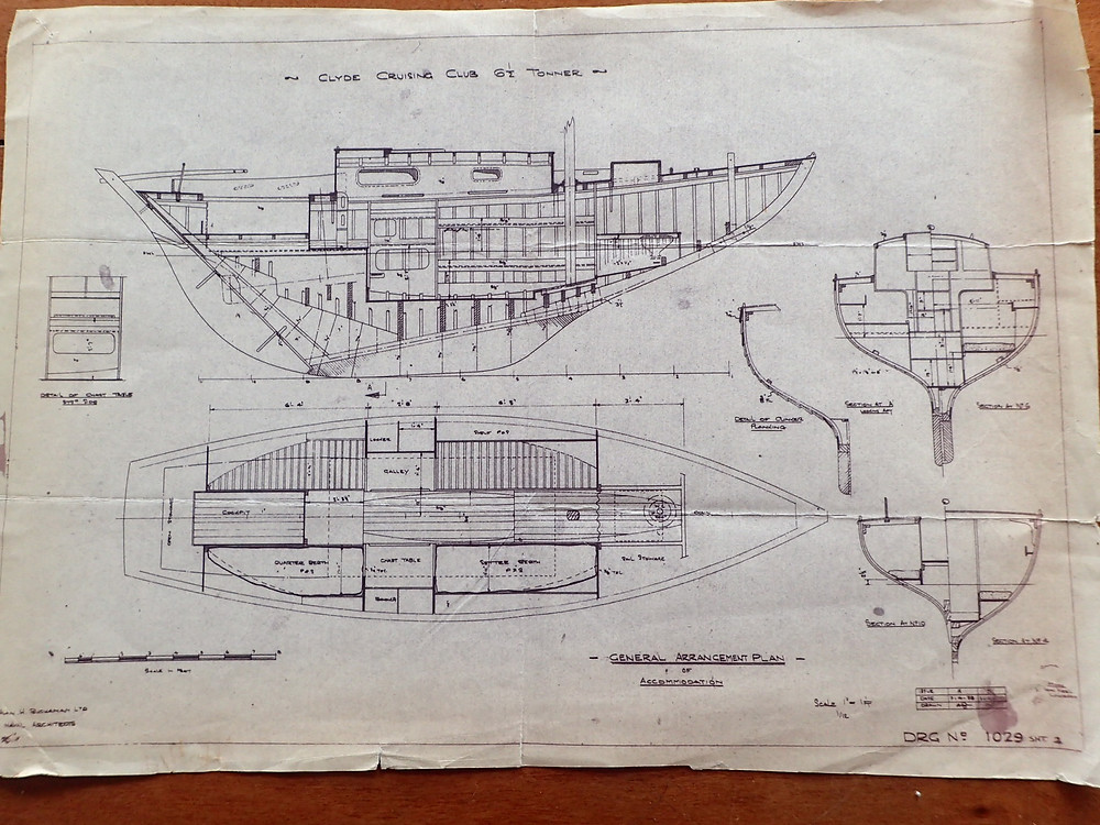 Building plans for Clipper - Clyde Cruising Club plans