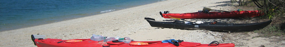 Kayak adventure camping at Dugong beach Whitsundays