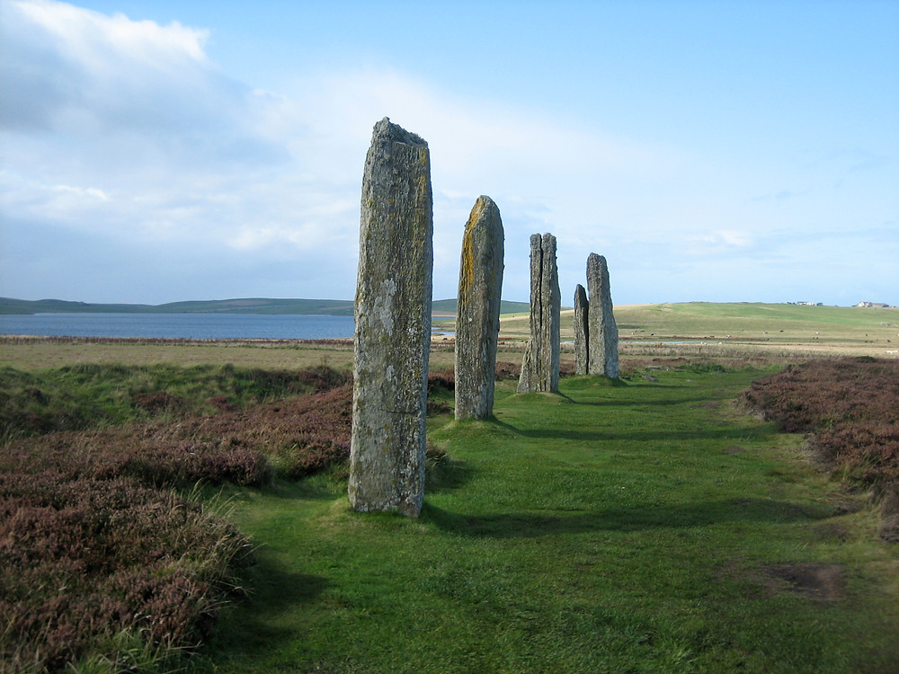 Ring of Brodgar on a cycle tour of Orkney a Scotish island