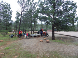Camping at a rest stop