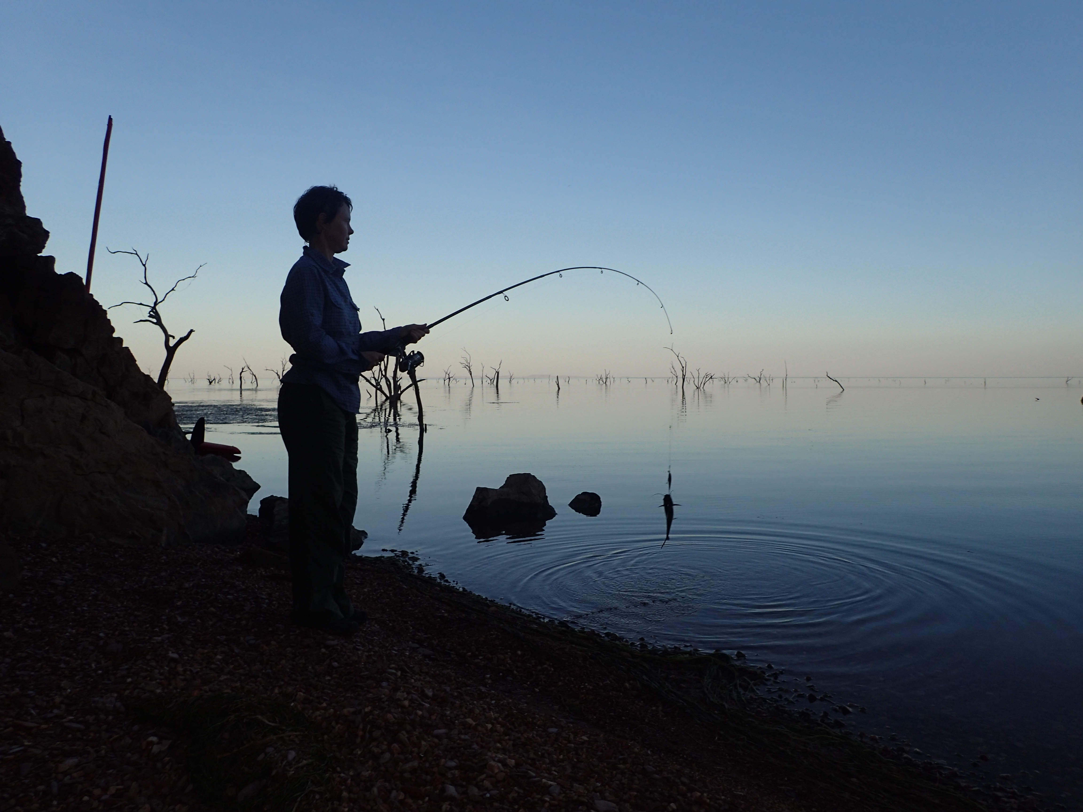 Fishing at Hole in the wall