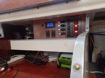 DIY electrical panel in our sailboat