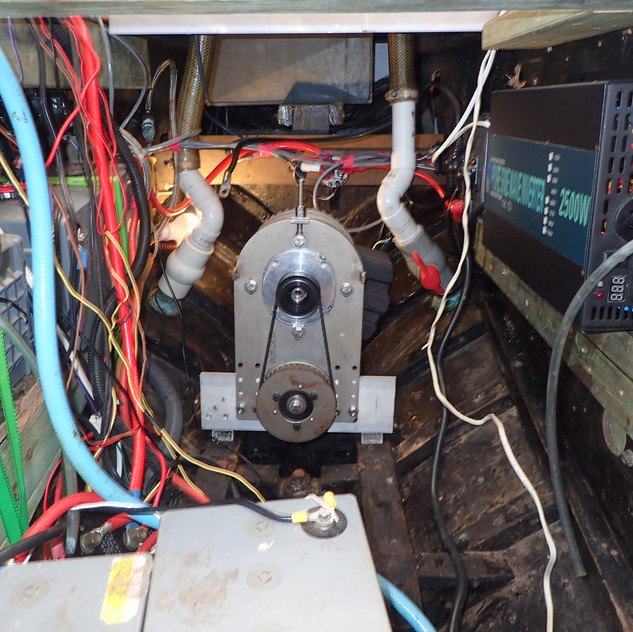 The electric motor installed