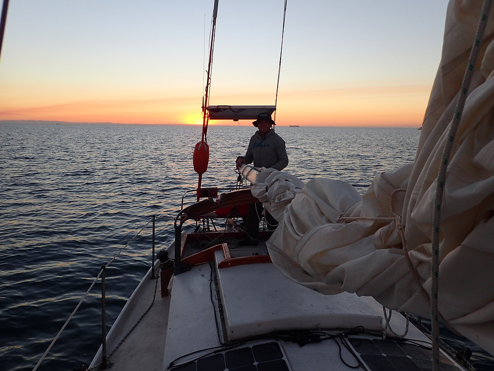The Sandhills, Moreton Bay. Our first overnight on our 28ft bluewater wooden sailboat