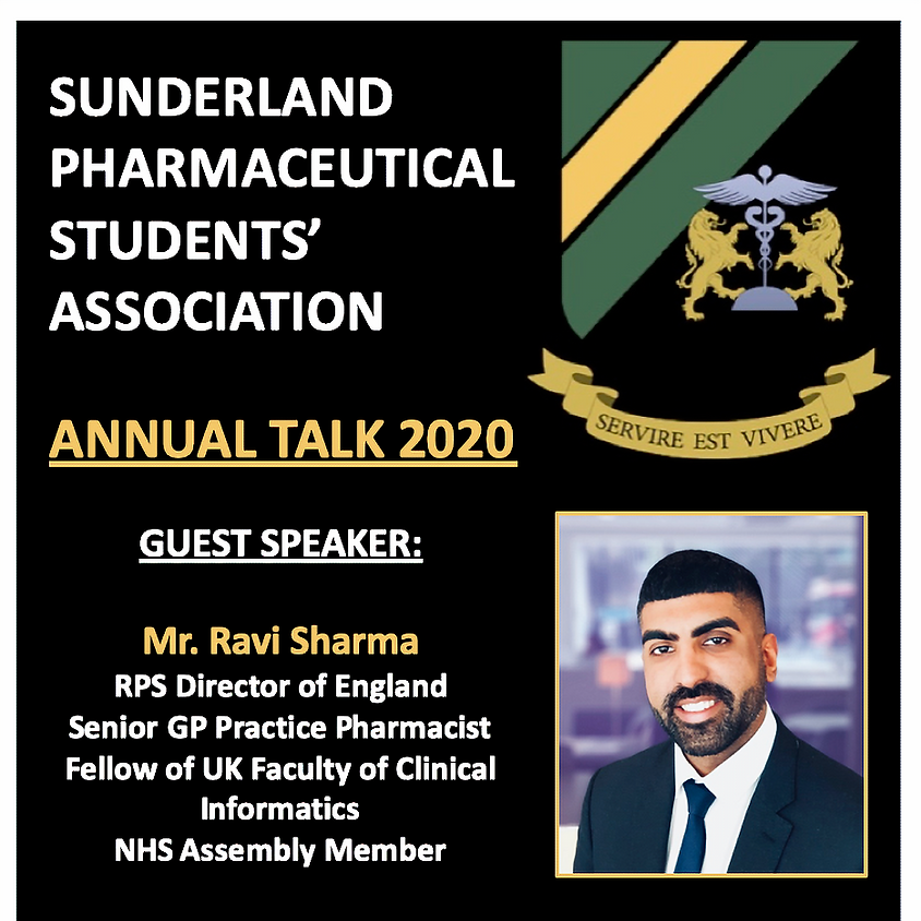 """SPSA ANNUAL TALK 2020 - """"My journey and the future of pharmacy"""""""