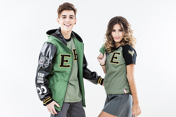 CAMPERA GREEN LEATHER