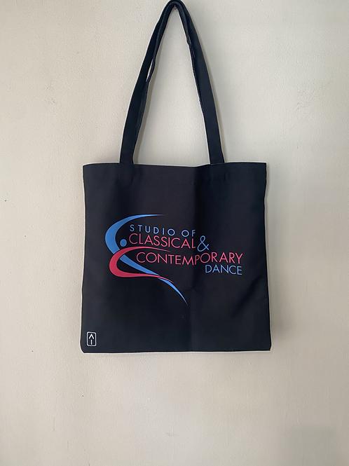 Black studio tote bag