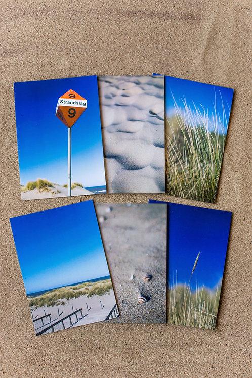 Ansichtkaartenset Strand