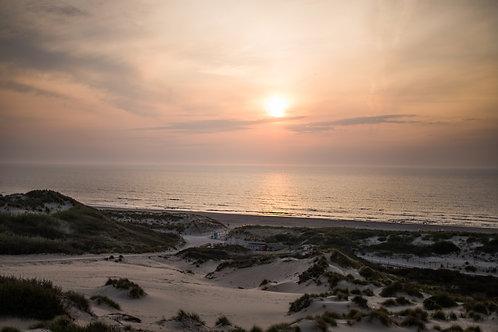Print strand zonsondergang 2 (A3 of A2)