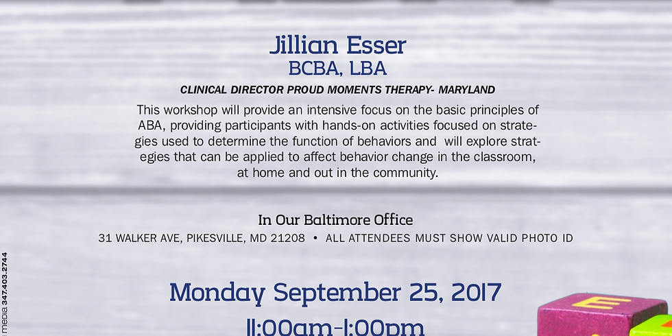 The ABC's of ABA with Jillian Esser