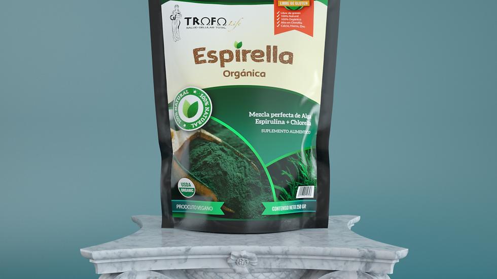 ESPIRELLA Algas Espirulina y Chlorella orgánicas 200gr