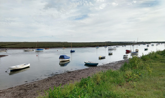 A moment beside the sea, at Burnham Overy.