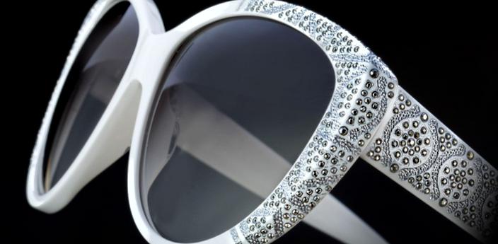 Sospiri White Sun Glasses
