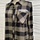 Thumbnail: Olive Button Up Plaid Top