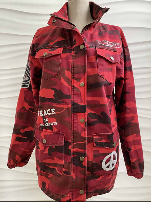 Red Camo Love is all you need Jacket