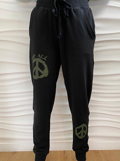Black For All Peace Sweatpants/Capri