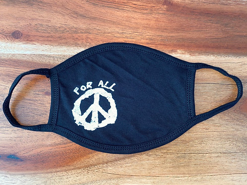 Face Mask For All Peace (White Ink)