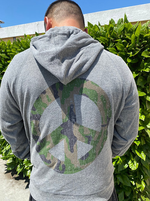 Unisex Camouflage Peace Charcoal Hoodie