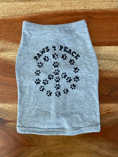 Dog and Cat Paw 4 Peace T-shirts Heather w/ Black Ink
