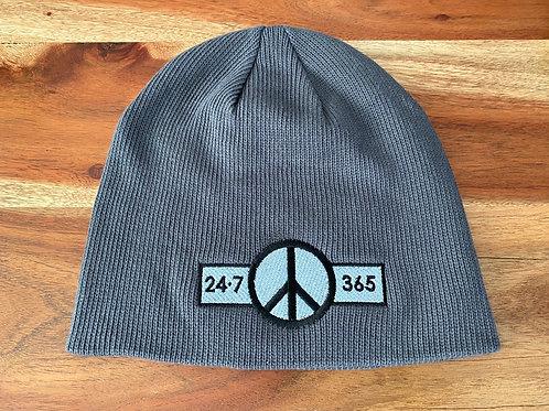 Grey 24•7Peace365 Beanie