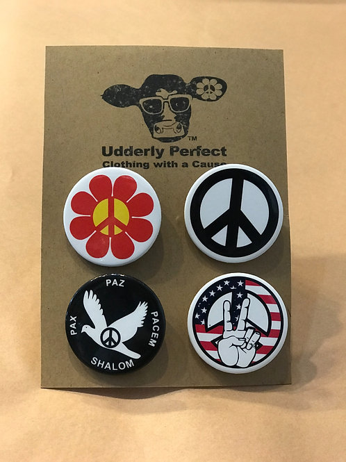 UP 1-1/2inch PEACE Button Set