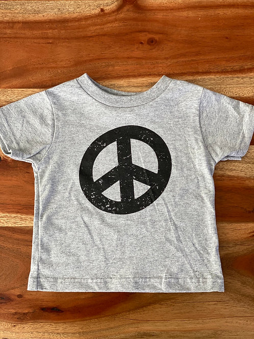 """Toddler Tee """"I will be the change"""" Heather Grey w/ Black"""