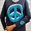 Thumbnail: Black Double Peace Sign V-neck
