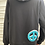 Thumbnail: Black Double Peace Sign Terry Hoodie