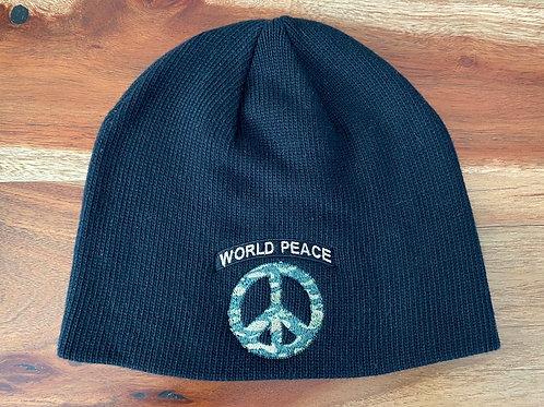 Black World Peace Beanie