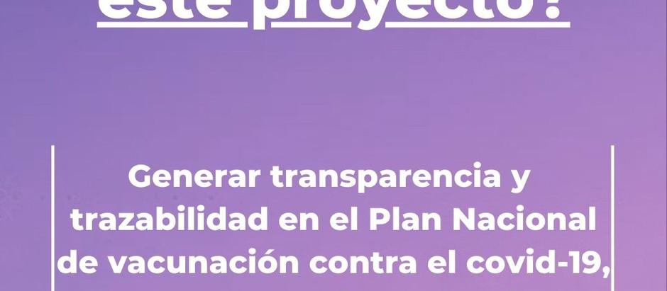 Solicitamos transparencia y la trazabilidad del Plan Nacional de vacunación contra el covid-19