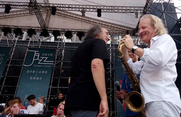 two old mates met in taiwan #臺中爵士音樂節 Taichung Jazz Festival 2017