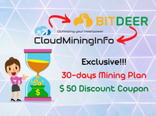 BitDeer Promo: October 2021: Exclusive 30-days Mining Plan and $ 50 Coupon for all users