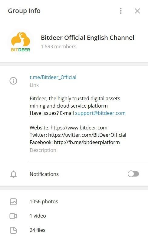 bitdeer telegram channel