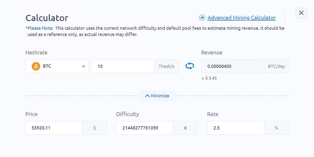 bitfufu daily revenue