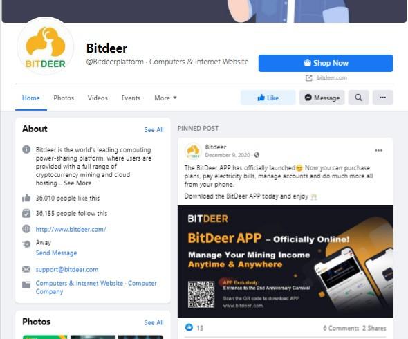 bitdeer facebook