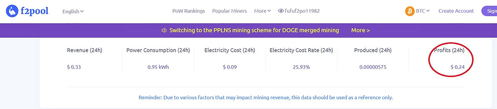f2pool unlex mining