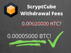 ScryptCube: Withdrawal Fee. My idea of how to make it 4 times smaller
