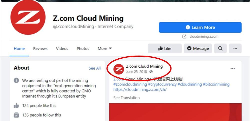z.com cloud mining social
