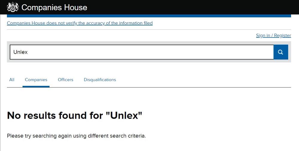 unlex mining no register