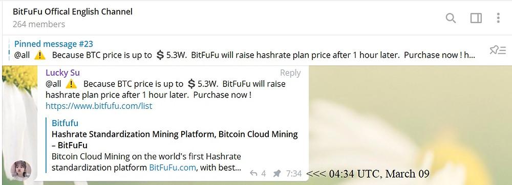 bitfufu telegram