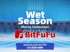 BitFuFu: Wet Season Festival with reduced electricity cost!