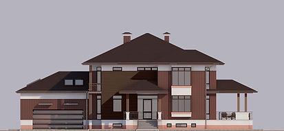 Проект дома в п. Лосихин остров. Фасад 1