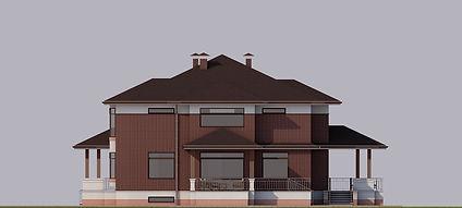 Проект дома в п. Лосихин остров. Фасад 3