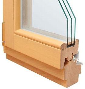 Разрез деревянного окна