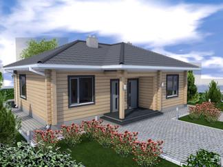 Акция! Уютный дом 100 кв.м. из клееного бруса за $49900