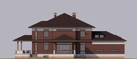 Проект дома в п. Лосихин остров. Фасад 2