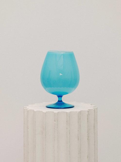 Vase bleu en opaline