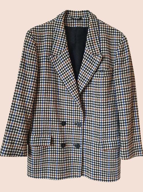 Vintage wool pied de poule blazer